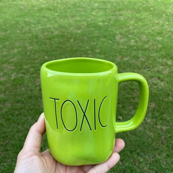 rae dunn toxic green mug
